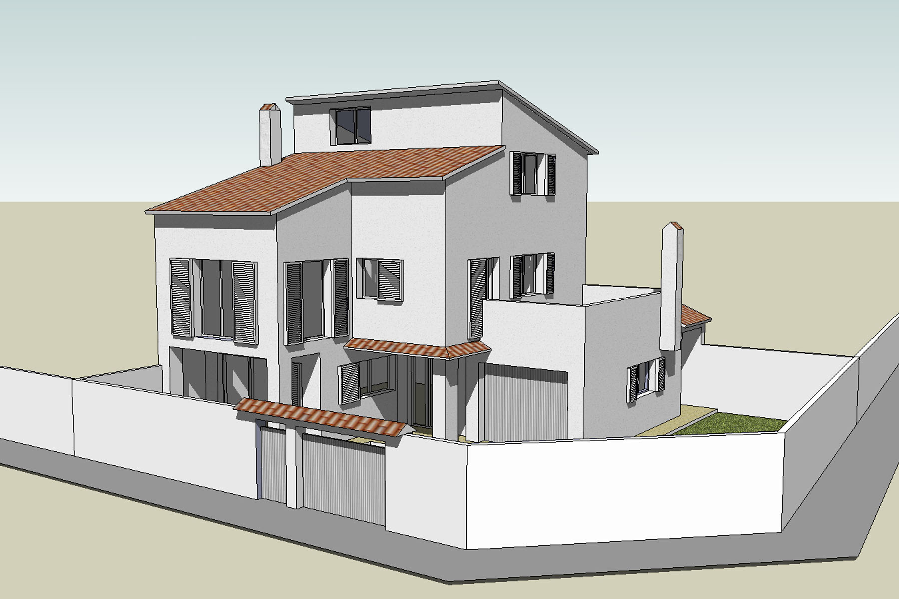 Single family detached house expansion in Carrer de Sitges Sant Pere de Ribes